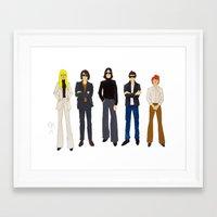 velvet underground Framed Art Prints featuring Velvet Underground + Nico by Sarah Zimmer