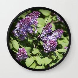 Lilacs 8 Wall Clock