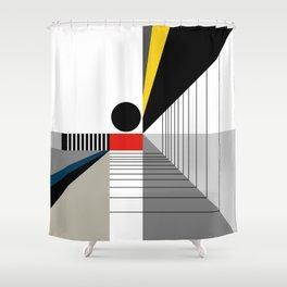 BLACK POINT Shower Curtain