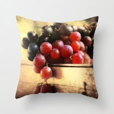 Grapes Montage Throw Pillow