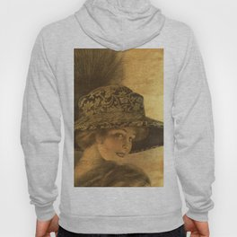 Golden victorian lady Hoody