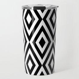 Motif Diamond Black white Travel Mug