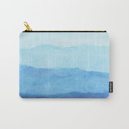 Ombre Waves in Blue Carry-All Pouch