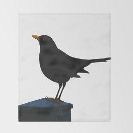 Blackbird Vector Throw Blanket
