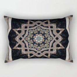 Modern Decorative Pattern Star Mandala Rectangular Pillow