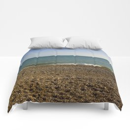 Evening Tide on a cobbled beach Comforters