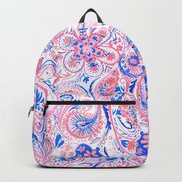 Paisley Watercolor Blue Backpack