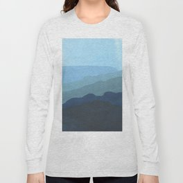 Landscape Blue Long Sleeve T-shirt