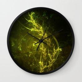 Magical Fractal Fairy Ferns in an Emerald Forest Wall Clock