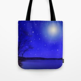 Moon and Stars Landscape Tote Bag