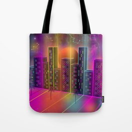 Neon City Tote Bag