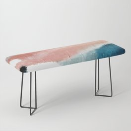 Exhale: a pretty, minimal, acrylic piece in pinks, blues, and gold Bench