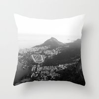 rio de janeiro Throw Pillows featuring Rio de Janeiro, Brasil by Angelika Albaladejo
