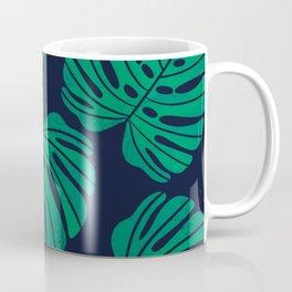 Kelly Green Monstera Leaves Coffee Mug
