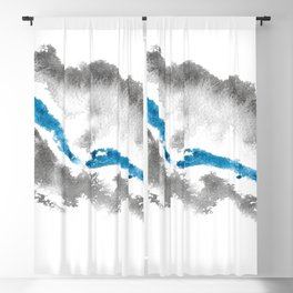 salt water, flowing through coarse volcanic rocks Blackout Curtain