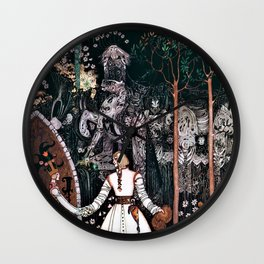 12,000pixel-500dpi - Kay Nielsen - The Youngest Prince Who Defeats A Giant With A Beautiful Princess Wall Clock