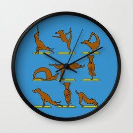 Greyhound Yoga Wall Clock