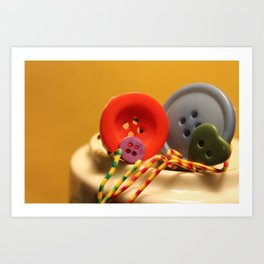 The Button Family Art Print