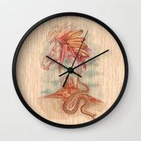 colorado Wall Clocks featuring COLORADO by TOXIC RETRO