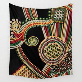 mystic rasta spiral Wall Tapestry