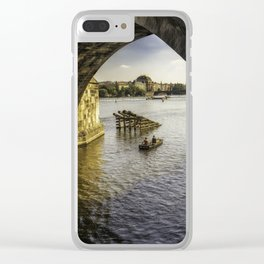 Fishermans Journey Clear iPhone Case