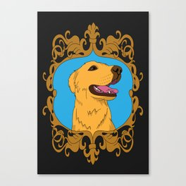 Olliver the Golden Retriever Mix Canvas Print