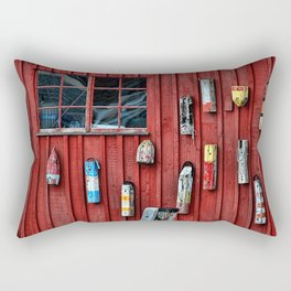 Red Wall Buoy Rectangular Pillow