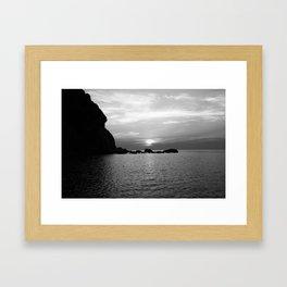 Dusk in Elba Framed Art Print