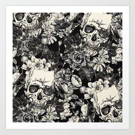 SKULLS HALLOWEEN Art Print