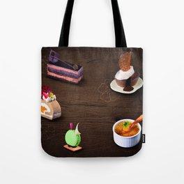Traditional Japanese chocolate cake Tote Bag