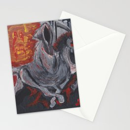 Grim Reaper on Racking Horse Stationery Cards