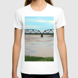 Low Tide at the Sackville Train Bridge T-shirt