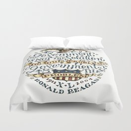 small government, larger freedom Duvet Cover
