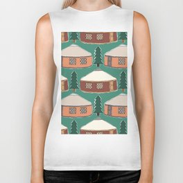 Cozy Yurts -n- Pines Biker Tank