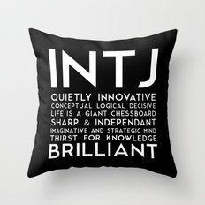 INTJ (black version) Throw Pillow