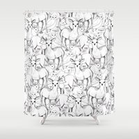woodland Shower Curtains featuring Woodland by Lydia Meiying