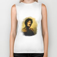 zappa Biker Tanks featuring Frank Zappa - replaceface by replaceface
