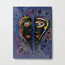 Love is Communication Street Art Graffiti Primitive Art Metal Print