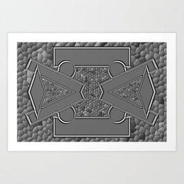 Grey colors #4 Art Print
