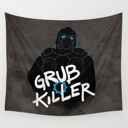 Grub Killer (Blue) Wall Tapestry