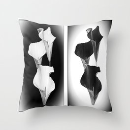 Calla Lillies. Black + White. Throw Pillow