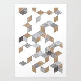 Gold and Black pattern Art Print