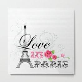Love in Paris Metal Print