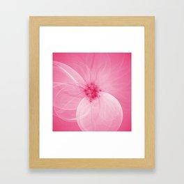 Pink Fairy Blossom Fractal Framed Art Print