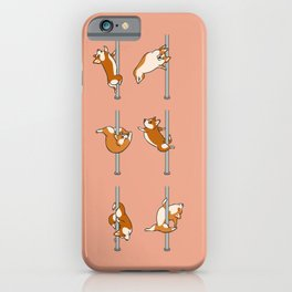 Corgi Pole Dancing Club iPhone Case