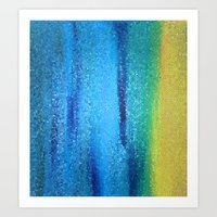 turquoise Art Prints featuring Turquoise by Ellie Rose Flynn