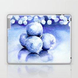 Blue sparkling ornaments Laptop & iPad Skin