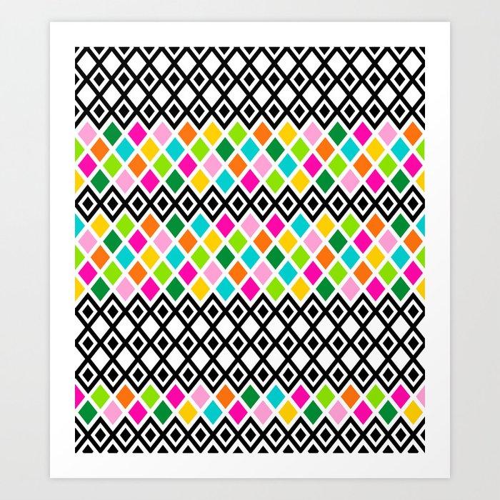 DIAMOND - White Art Print
