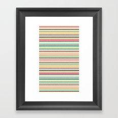 pop stripe Framed Art Print
