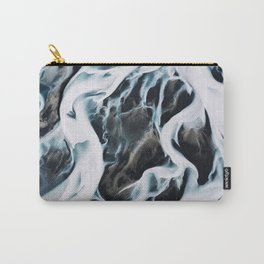 Aerial of an abstract River in Iceland Carry-All Pouch
